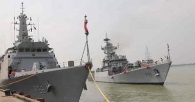 স্বাধীনতার সুবর্ণ জয়ন্তী উপলক্ষে মংলায় দুই ভারতীয় যুদ্ধজাহাজ