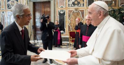 Bangladesh Ambassador to the Holy See Presents Credentials