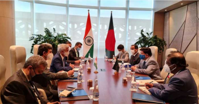Dr Momen holds talks with India China Tajikistan counterparts