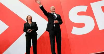 Germany`s SPD narrowly wins election, preliminary official result