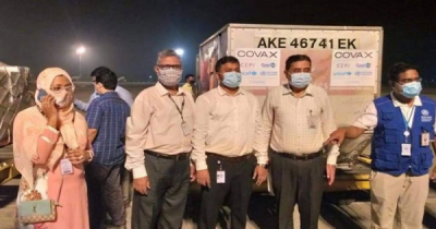 First Shipment of COVID-19 Vaccines from COVAX arrives in Dhaka