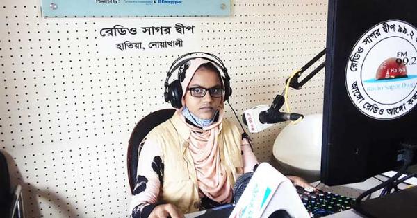 A community radio program on World Day Against Trafficking